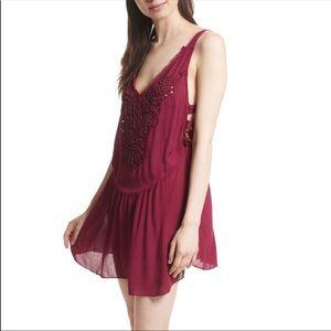 NEW Free People Embellished Slip Dress Beaded